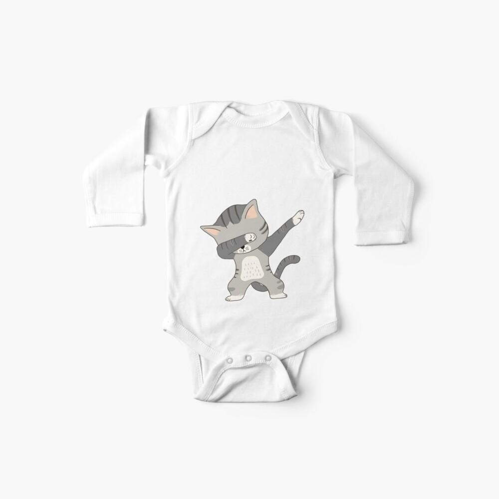 Dabbing Cat Camiseta Bodies para bebé