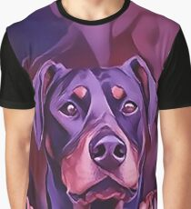 Doberman at the Window Graphic T-Shirt