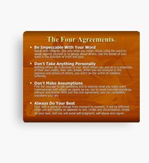 The Four Agreements Printable  Canvas Print