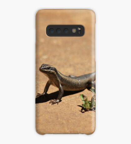 Interacting with wildlife - African Striped Skink Case/Skin for Samsung Galaxy