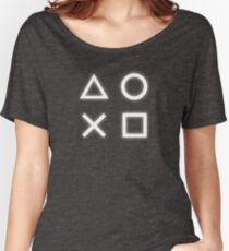Playstation Buttons Symbols Women's Relaxed Fit T-Shirt