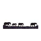 Lodge décor  - Mix & Match Throw Pillow - Elephants by Maree Clarkson