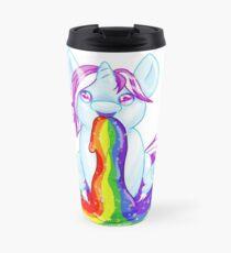 Unicorn Barfing Rainbow Travel Mug