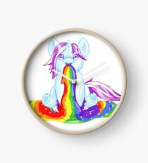 Unicorn Barfing Rainbow Clock