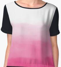 Bright Pink Watercolour Ombre Women's Chiffon Top