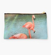 Flamingo Pair Studio Pouch
