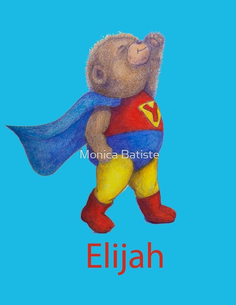 ELIJAH Super Hero Yoga Bear by Monica Batiste