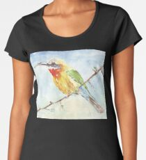 Whitefronted Bee-eater (Merops bullockoides) Women's Premium T-Shirt