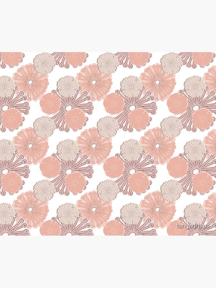 Rose Gold Blumenmuster von tanyadraws