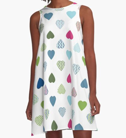AFE Colorful Hearts A-Line Dress