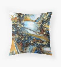 Agate Geode Square Throw Pillow