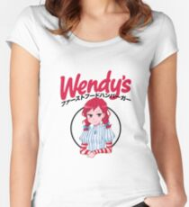 Smug Wendy's Girl Japanese Women's Fitted Scoop T-Shirt