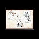 Lodge décor - Wildlife Triptych Mix & Match Throw Pillow by Maree Clarkson