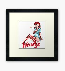 Smug Wendy's Girl Framed Print