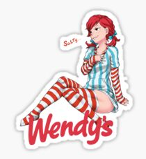 Smug Wendy's Girl Sticker