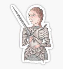 Joan of Arc Manga Anime Sticker