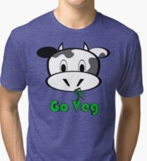 "Cow ""Go Veg"" Tri-blend T-Shirt"