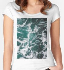 Perfect Ocean Waves Women's Fitted Scoop T-Shirt