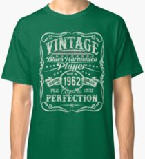 Gussow's Vintage Blues Harmonica Player Made in 1962 Classic T-Shirt