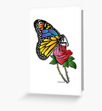 Butterfly Rose Greeting Card