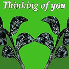 Thinking of You - Leafy Green by KazM