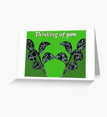 Thinking of You - Leafy Green Greeting Card