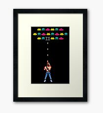 Contra vs. Space Invaders Framed Print