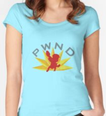 PWND Red Team Women's Fitted Scoop T-Shirt