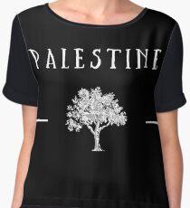 Palestine Olive Tree Chiffon Top