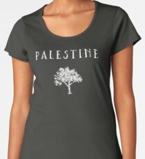 Palestine Olive Tree Women's Premium T-Shirt