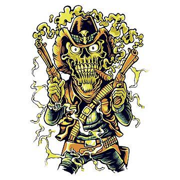 Zombie gunslinger by jairodota10