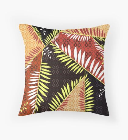 Connection of Leaves  Throw Pillow