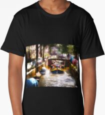 Amsterdam, Holland • Canal Bridge Long T-Shirt