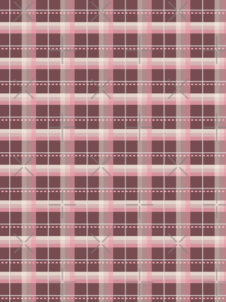 AFE Pink and Chocolate Brown Plaid by afeimages1