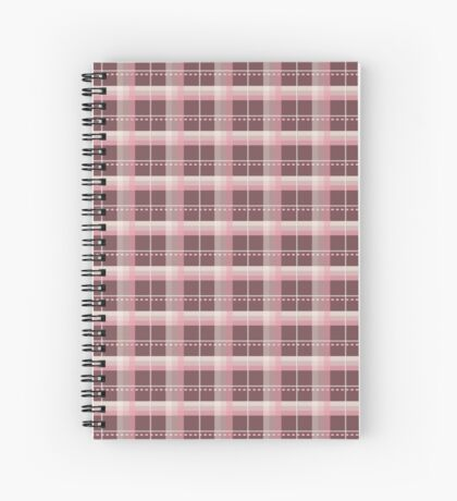 AFE Pink and Chocolate Brown Plaid Spiral Notebook