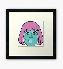 He Man Pink And Purple Framed Print