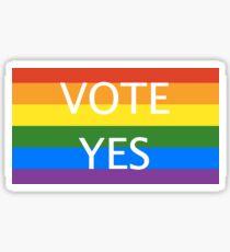 Vote Yes Same Sex Marriage  Sticker