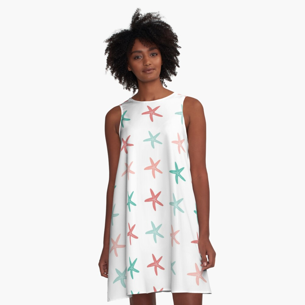 AFE Starfish Pattern II A-Line Dress Front