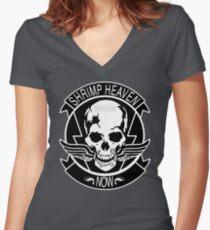 SHRIMP HEAVEN NOW Women's Fitted V-Neck T-Shirt