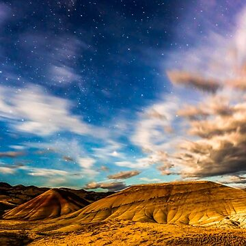 Moonlight over Painted Hills by rkboz
