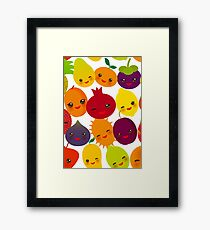 Happy Fruit Framed Print
