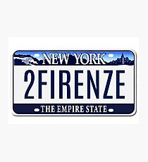 Drive Me to Firenze (You Enjoy Myself by Phish) Photographic Print