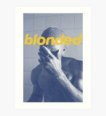 Blue Frank blonded Art Print