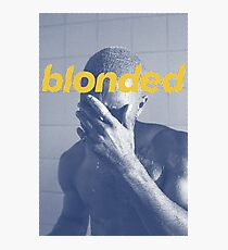 Blue Frank blonded Photographic Print