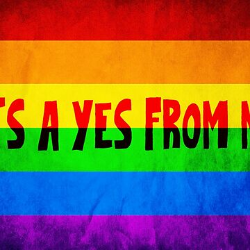It's a yes from me gay pride Australia by Tedefred