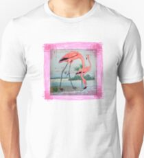 Flamingos Bird Vintage  T-Shirt