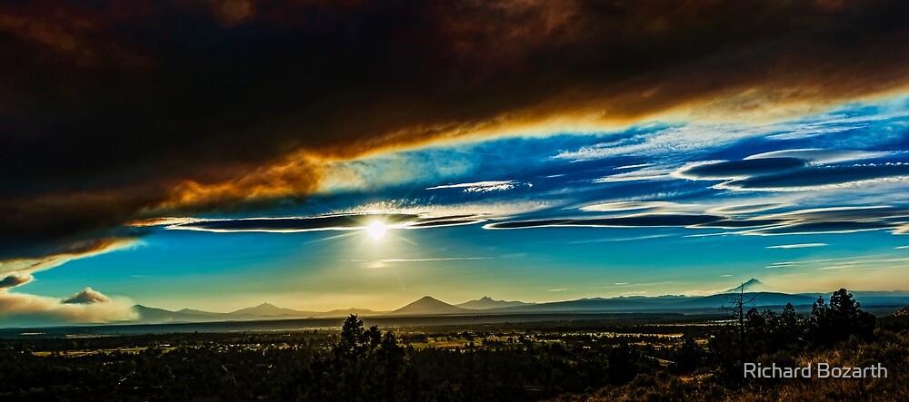 Smokey sunset 1 by Richard Bozarth