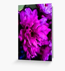 Lavender and Pink Flower with some Blue Greeting Card