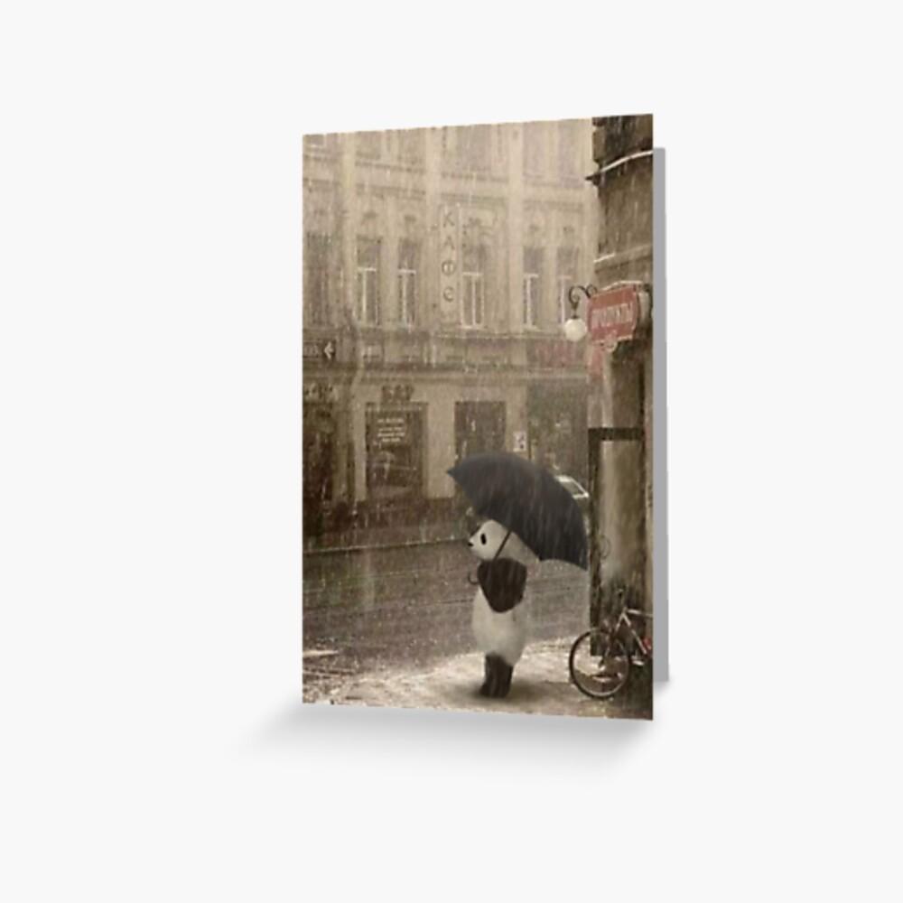Draußen regnet es Grußkarte