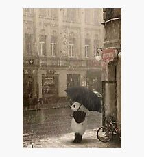 It's raining outside Photographic Print